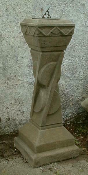 sundial plinth garden stone ornament art deco plinth very unusual