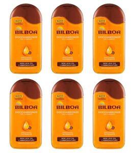 6pz-BILBOA-DOCCIABRONZE-Oil-Carrot-doccia-oil-nutriente-250ml-NUOVO-corpo-bagno