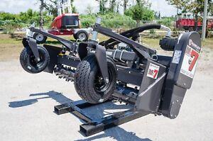 Kubota SVL Track Loader Harley Power Landscape Rake 7' Hydraulic