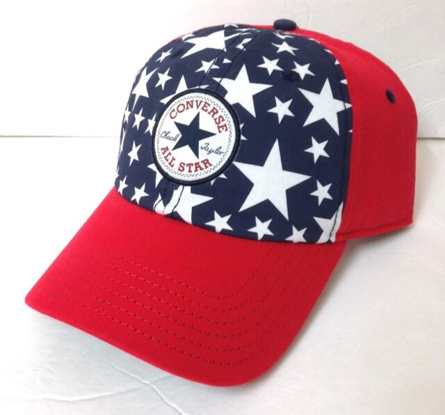 a15b1c7b Converse All Star Chuck Taylor Hat Red White Blue American Flag USA  Snapback Men for sale online | eBay