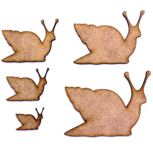 Various Sizes Nature Garden 2mm MDF Wood Snail Craft Shape