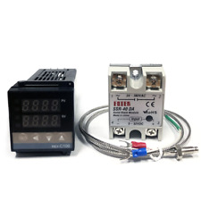 Rex C100 Digital Pid Thermostat Temperature Controller Ssr Output K Thermocouple