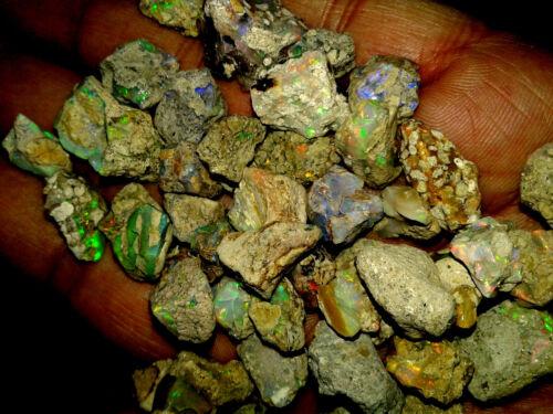 BEAUTIFUL100/% NATURAL-ETHIOPIAN-FIRE-OPAL-ROUGH-GEMSTONE P1