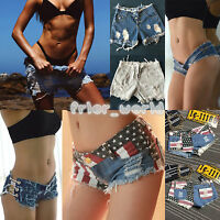 Womens Sexy Denim Cut Off Shorts Summer Beach Hotpants Ladies Frayed Ripped Jean