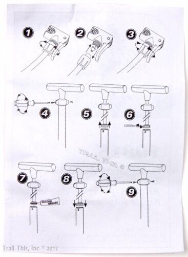 Park Tool PFP-3//PFP-6 Pump Rebuild Kit for Bicycle Floor Pump-1081K-New