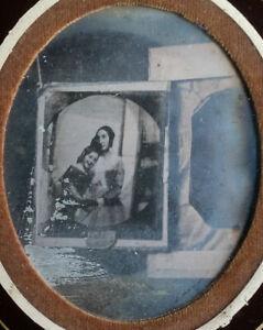 RARE-Daguerreotype-1-6-plaque-Photo-d-039-un-Daguerreotype-sur-Chambre-c-1845