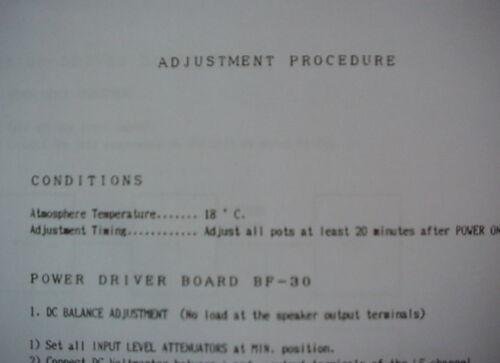 dbx BX3 POWER AMPLIFIER ADJUSTMENT PROCEDURES 12 Pages