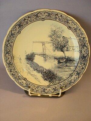 Boch Belgium Delfts Wandteller G. Poggenbeek ca 30,5 cm