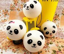 B002 Cute Panda New Squishy Buns Bread Charms Squishies Cell Phone Straps 7cm UK
