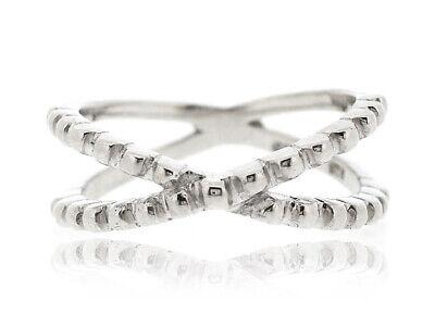 925 Sterling Silver Criss Cross X Shape Minimal Ring For Women Size 5 12 New Ebay