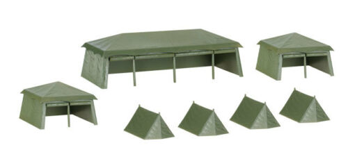 7 pieces 1:87 HO Scale * Herpa Military 745826 Assembly Kit Tents