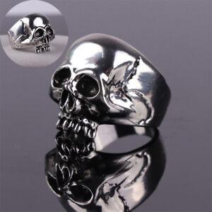 Fashion Rock Biker Hip Hop Gothic Punk Vintage Skull Rings