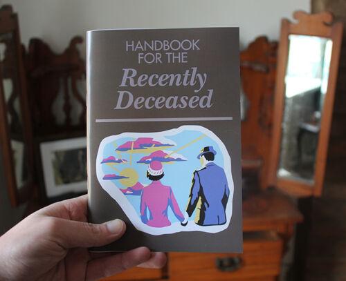 Beetlejuice Handbook for the Recently Deceased notebook tim burton horror prop