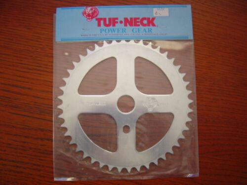 NOS Tuf Neck Power Gear Old School BMX Sprocket Redline Silver 45 T