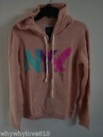 Women American Eagle Ae Nyc Fleece Hoodie Peach L