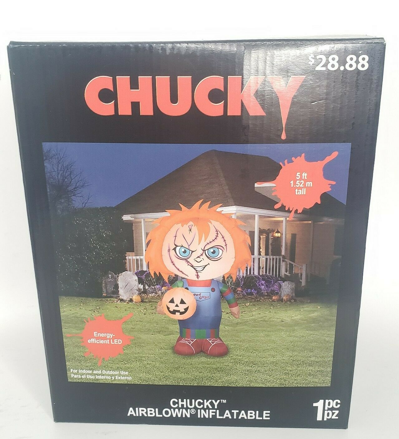 Gemmy Child S Play Chucky Doll 5 Airblown Inflatable With Pumpkin Halloween New For Sale Online