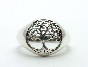925-Sterling-Silber-Ring-Baum-des-Lebens-Lebensbaum-Gr-50-59-mm-Neu-Tree-of-Life