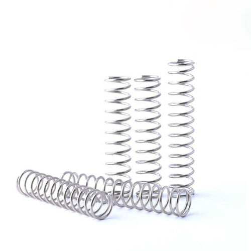 10 Stk Druckfedern Edelstahlfedern Drahtstärke 1,8 mm AD 10-25mm Höhe 10-200 mm