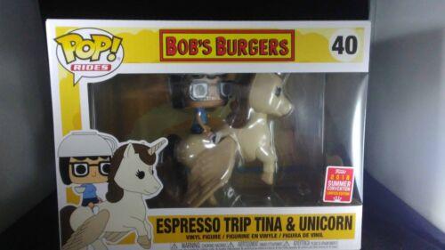 Funko Pop Pop Rides 40 Espresso Voyage Tina /& licorne été détenu Exclusive