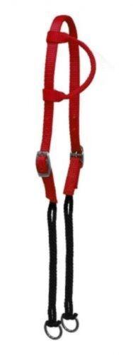 Showman RED Single Ear Premium Nylon Gag Headstall NEW HORSE TACK!