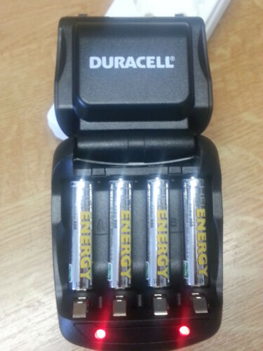 DURACELL 45 min cef27 Batterie Charger Chargeur + 4x 2000 MAH Batterie AA heienergy
