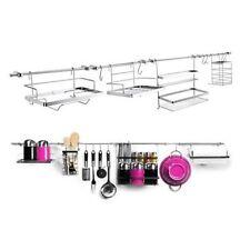 14 Piece Wall Mounted Kitchen Utensil Holder Rail Rack Hanging Storage Set