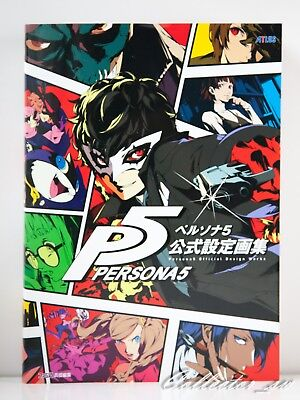 DHL//EMS Persona 5 P5 Official Design Works PS4 Game Illustration Art Book Japan