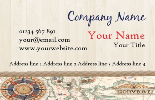 Vintage Nautical Personalised Business Cards