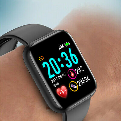 Damen Smartwatch Bluetooth Fitness Armband Wasserdicht IP67 Sport Uhr DHL