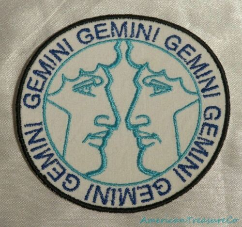 Embroidered Retro Horoscope Astrology Gemini Twins Sign Patch Iron On Sew USA