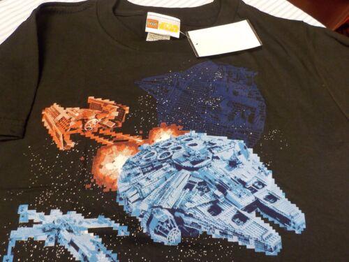 New Lego Star Wars Millennium Falcon Glow in the Dark Tee Shirt Sz 4  Reg Pr $16