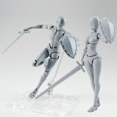 S.H.Figuarts He She Body Kun DX Set Gray Color Ver Body-Chan Action PVC Figure