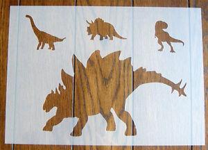 DIY Stegosaurus Dinosaur Stencil Mask Reusable PP Sheet for Arts /& Crafts
