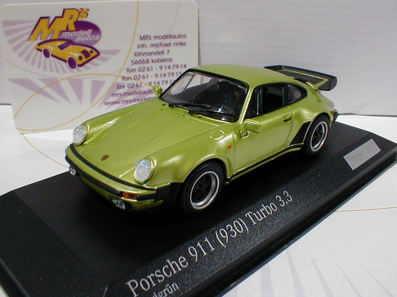 Minichamps ca04316039   porsche 911 (930) turbo 3.3  dans  vert citron  1 43  peu coûteux
