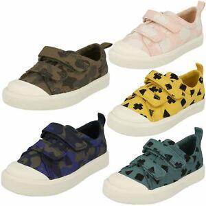 """""""les filles & Garçons Clarks Doodles's Casual Canvas Chaussures-ville FLARE LO T-afficher le titre d`origine CauqyUSg-07163109-528515778"""