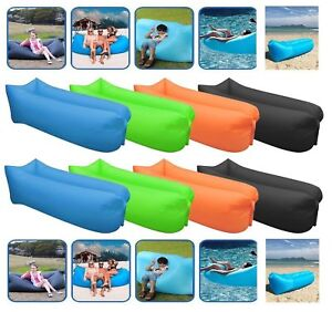 Air-Bed-Sofa-Inflatable-Camping-Couch-Lounger-Double-Lazy-Sleeping-Pump-New-Bag
