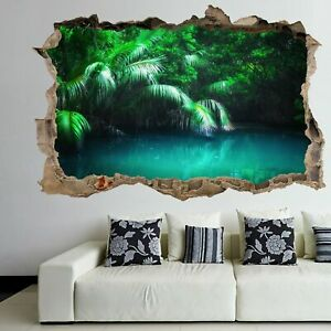 Fantasy Forest Tropical Lake Wall Art Sticker Mural Poster Home Decor Fh17 Ebay