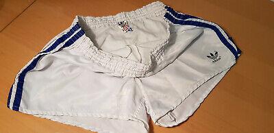 Adidas Lucentezza Nylon Sprinter Racer Gay 'le Shorts/tg. D6/bianco-blu/vintage-mostra Il Titolo Originale I Consumatori Prima