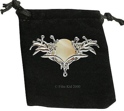 Royal Elven Elf GALADRIEL Pin BROOCH Hobbit LOTR Lord of the Rings Badge