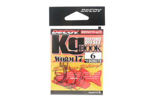 8078 Decoy Worm 17KG High Power Offset Worm Hooks Size 6