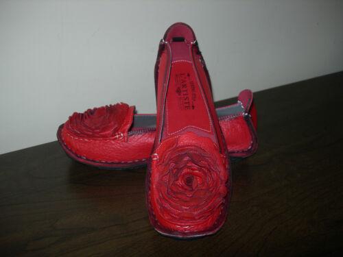 Uk Eu 5 donna 4 Slip On Spring Step Scarpe L'artiste da Red 37 Leather By 38 OxUqAFUwB