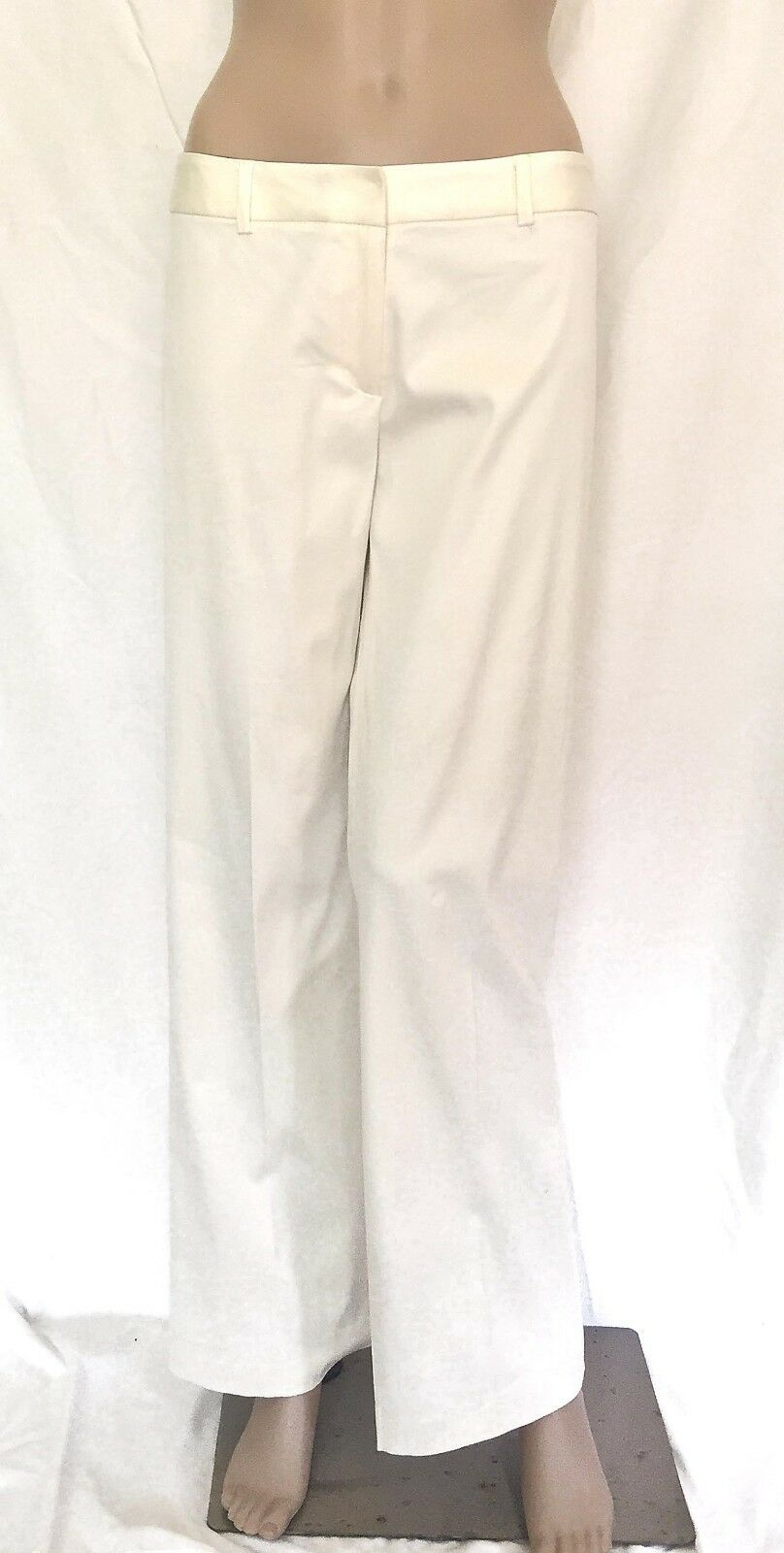 Milly of New York White Cotton Blend Pants - Size 6 - EUC