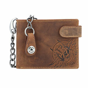 Vintage-Porte-monnaie-cuir-12-cm-braun