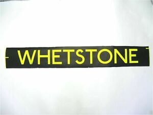 Whetstone-bus-blind-vintage-screen-printed-London-destination