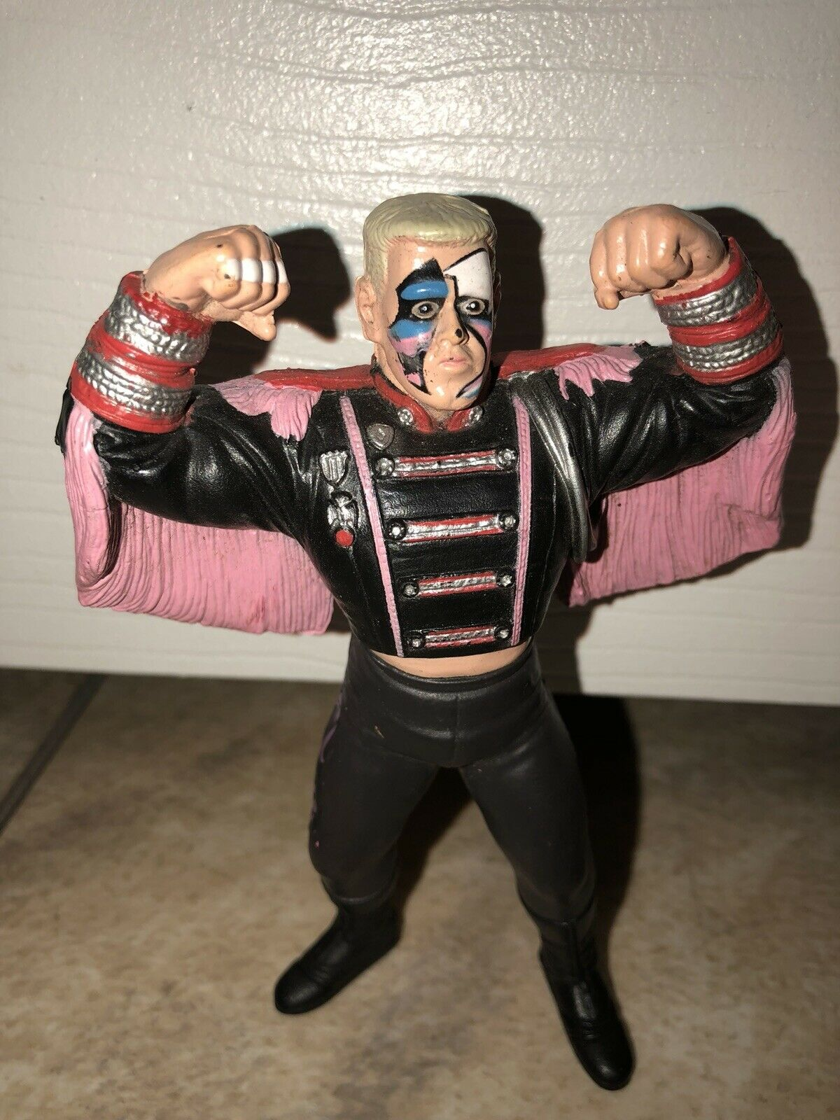 RARE WCW Galoob Sting Uk Version With Ring Entrance Gear