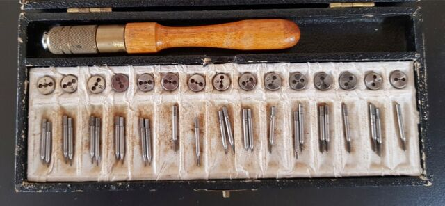 Jewellers Watchmakers Tap and Die Screw Plate Set taps /& 1 plate 0.6-1.6mm.