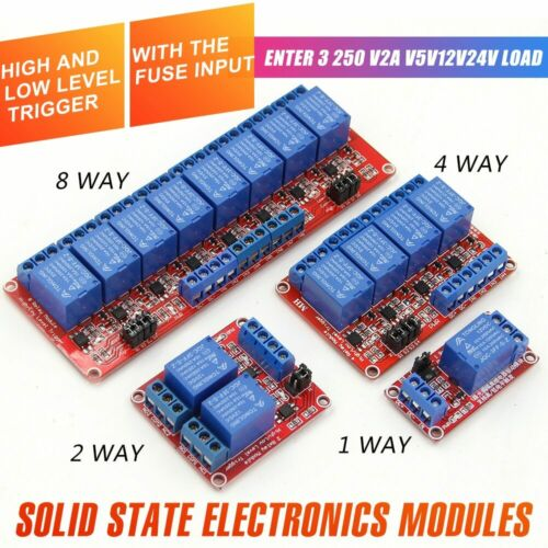 1 2 4 8 Channel 5V12V Relay Module Board Shield with Optocoupler High//Low Level