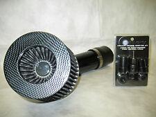 """Universal 2.75"""" Diameter Carbon Fiber Short Ram Air Intake + Sensor Adapter Kit"""