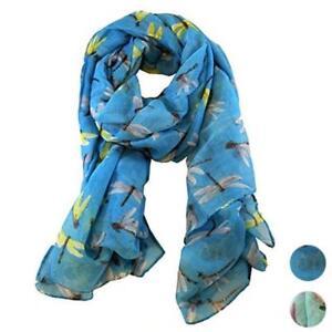 Fashion-Lady-Women-039-s-Long-Cute-Dragonfly-Print-Scarf-Wraps-Shawl-Soft-Scarves-A