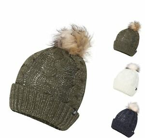Image is loading Women-039-s-Waterproof-Thinsulate-Beanie-Pom-Pom- f39d7727fa9